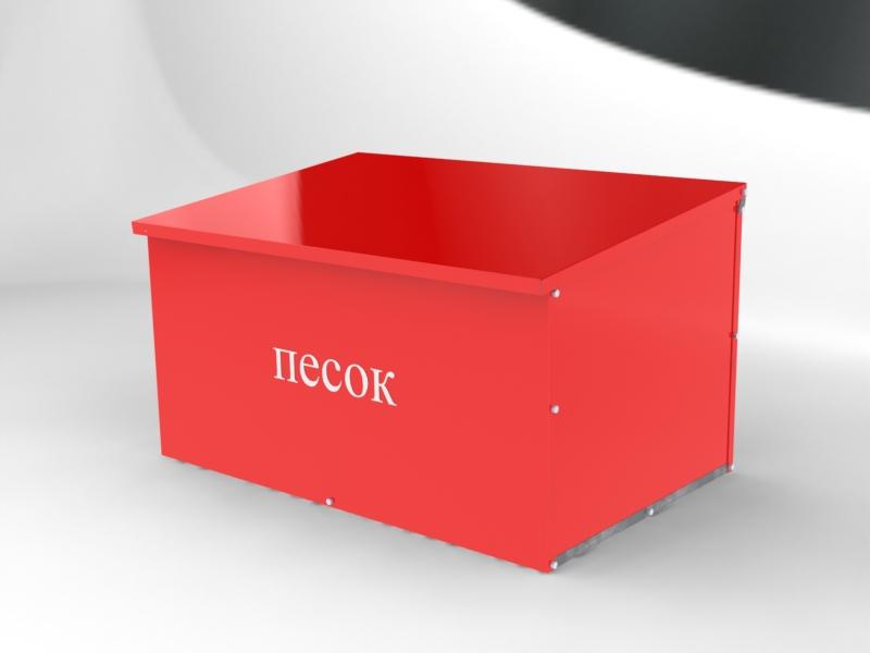 Ящик для песка 0,5 куб.м. (огнетушащего порошка) в сборе